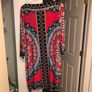 XL Flattering Colorful Sexy Dress 14 16